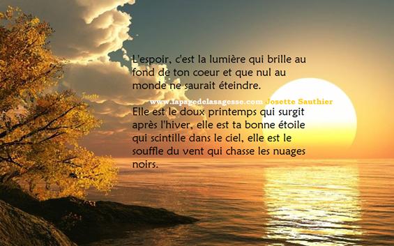 Citation Citation De Josette Sauthier Jepoèmes