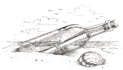 bouteille-marine-avec-un-message-dans-le-sable-dessine-a-la-main-for-bouteille-a-la-mer-dessin.jpg