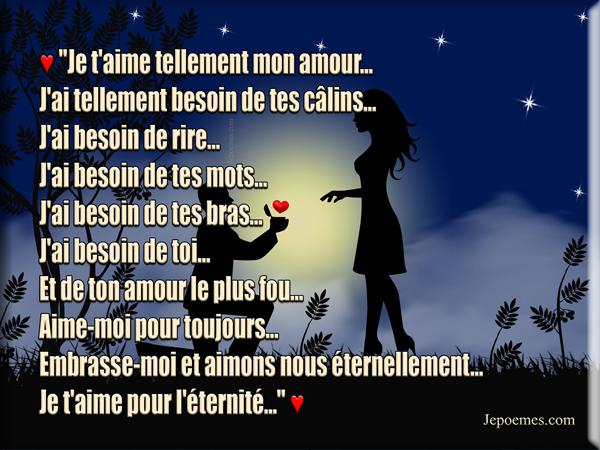 Poème Damour Déclaration Damour Aime Moi Pour Toujours