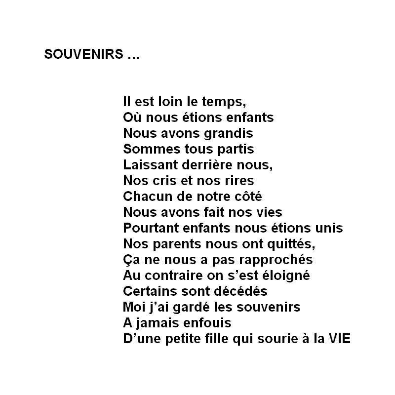Poème Souvenirs Jepoèmes Forum De Poésie Poèmes Et Poètes